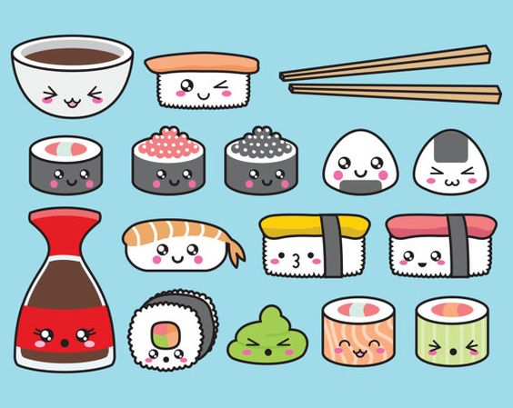 Милые и няшные картинки еды, продуктов и вкусняшек - подборка 11