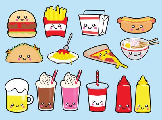 Милые и няшные картинки еды, продуктов и вкусняшек - подборка 12