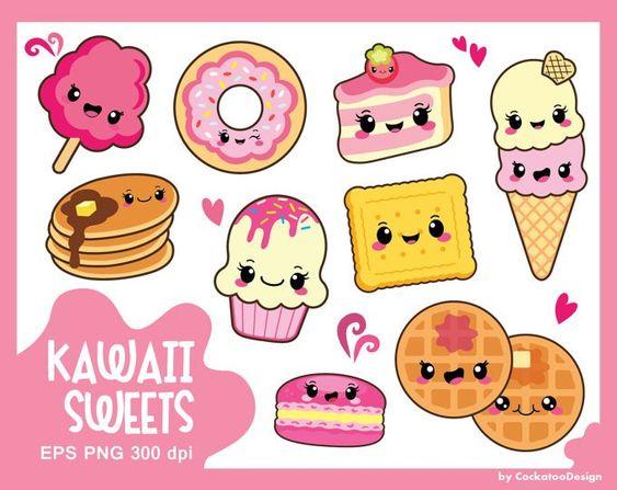 Милые и няшные картинки еды, продуктов и вкусняшек - подборка 17