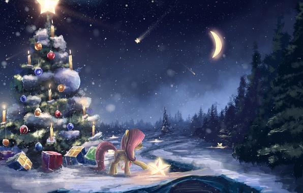 Новый год, подборка очень красивых и необычных картинок в стиле арт 1