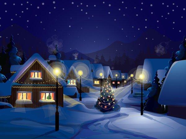 Новый год, подборка очень красивых и необычных картинок в стиле арт 5
