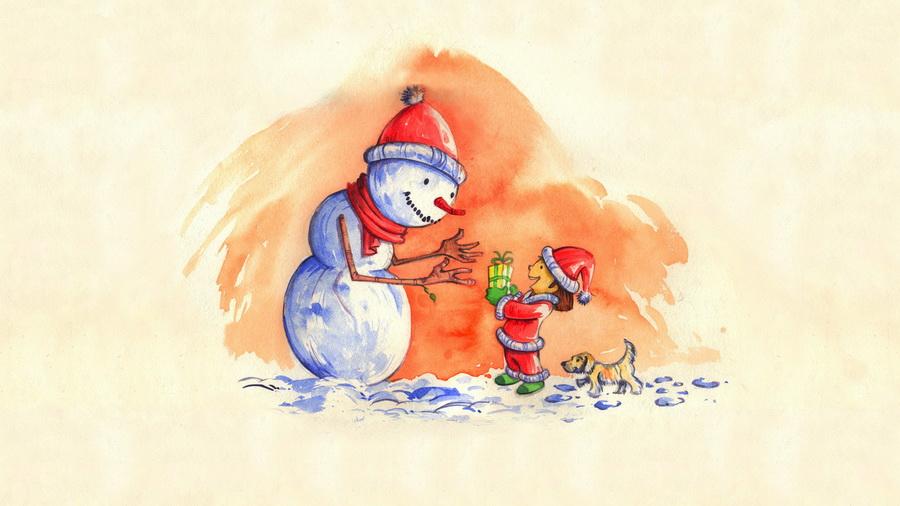 Новый год, подборка очень красивых и необычных картинок в стиле арт 6