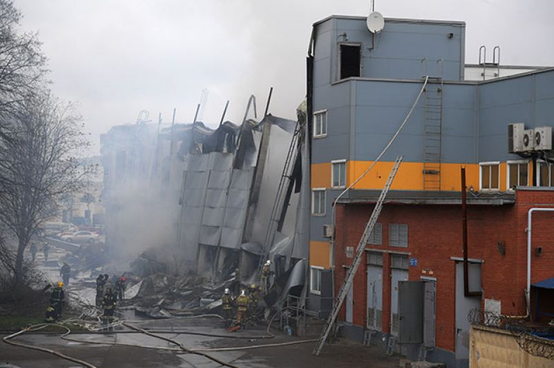 Пожар в гипермаркете «Лента» в Санкт-Петербурге - новости 2
