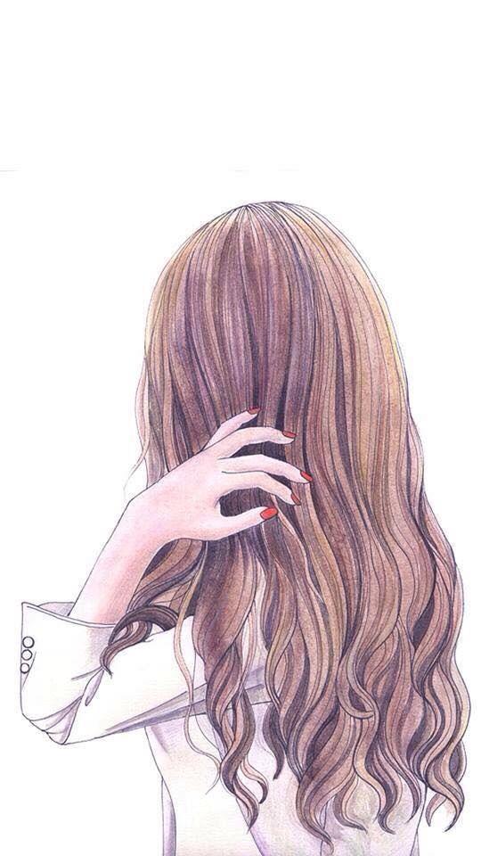 Прикольные картинки девочек и девушек для срисовка - подборка 7