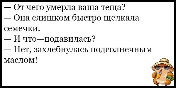 Самые смешные и веселые анекдоты про тещу - подборка №131 13