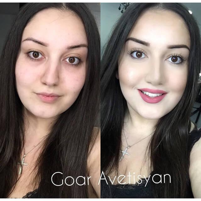 Сравнение девушек с макияжем и без - прикольные фото, картинки 13