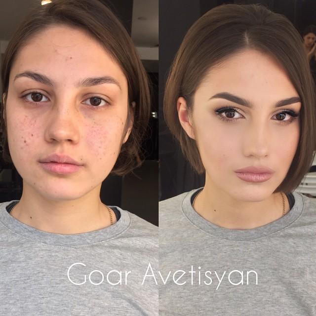 Сравнение девушек с макияжем и без - прикольные фото, картинки 17