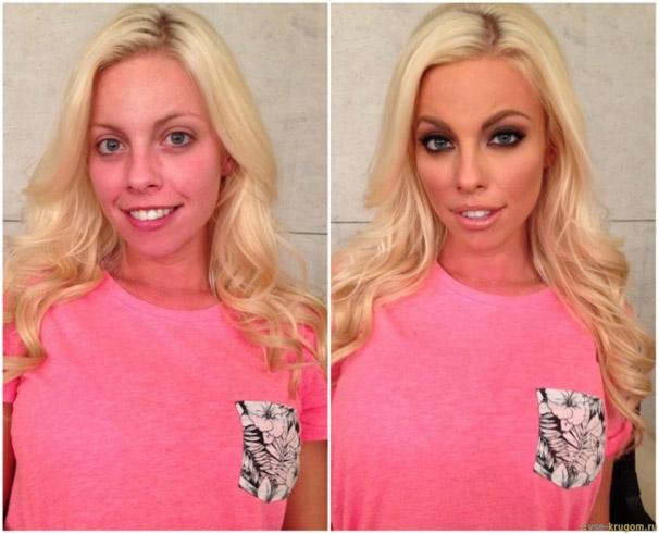 Сравнение девушек с макияжем и без - прикольные фото, картинки 3