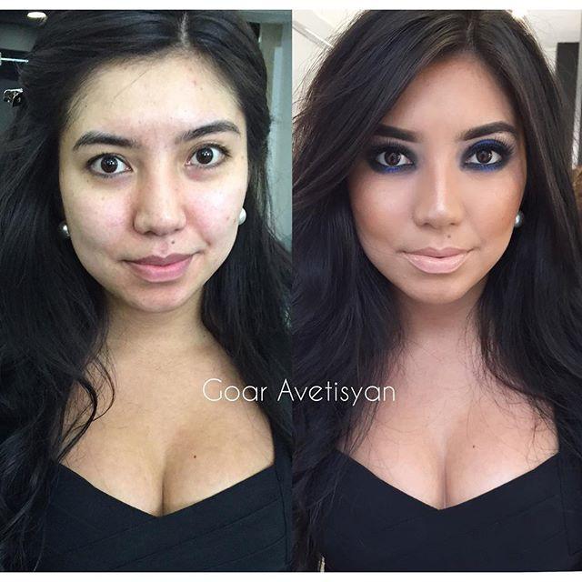 Сравнение девушек с макияжем и без - прикольные фото, картинки 5