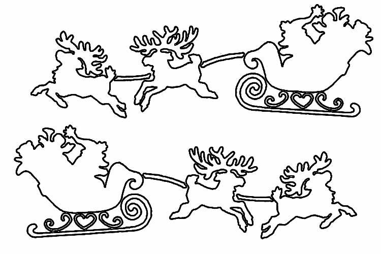 Трафареты на Новый 2019 год Свиньи на окно 32