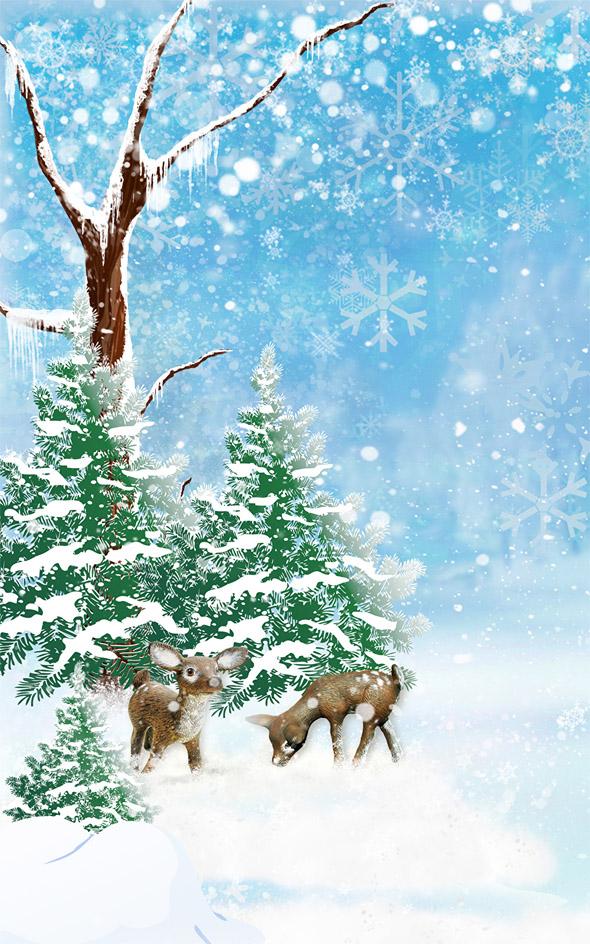 Удивительные картинки на заставку телефона Зима - подборка 1
