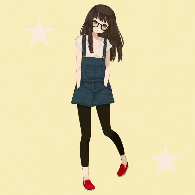 Аниме девушки в полный рост - красивые картинки, арт 40 фото 39