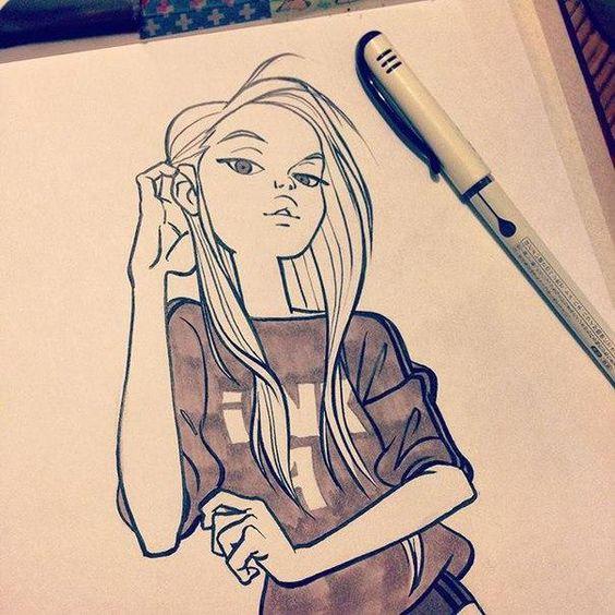 Грусть и одиночество - картинки, рисунки для срисовки, рисования 14