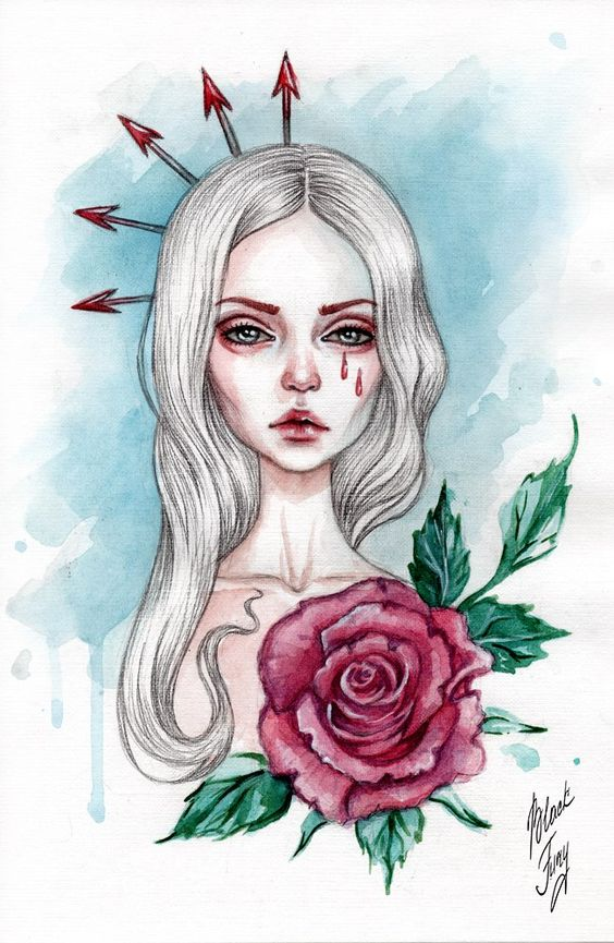 Грусть и одиночество - картинки, рисунки для срисовки, рисования 16