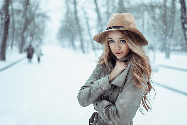 Девушка-зима - удивительные арт картинки, фото, подборка 10
