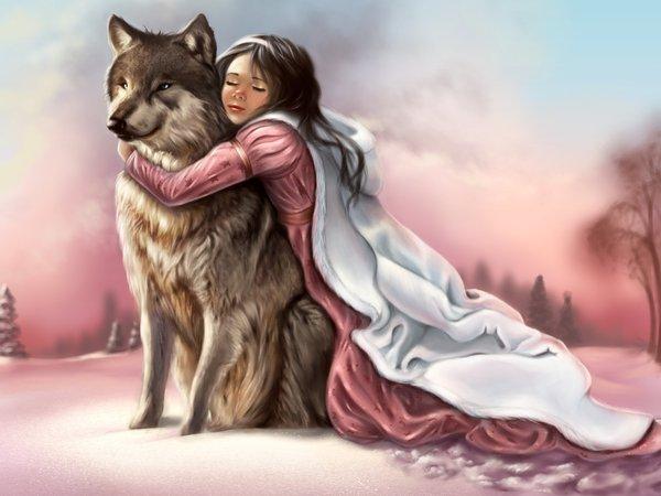 Девушка-зима - удивительные арт картинки, фото, подборка 11