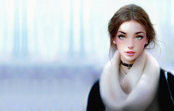 Девушка-зима - удивительные арт картинки, фото, подборка 16