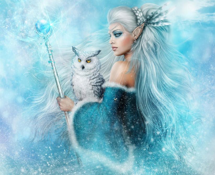 Девушка-зима - удивительные арт картинки, фото, подборка 17