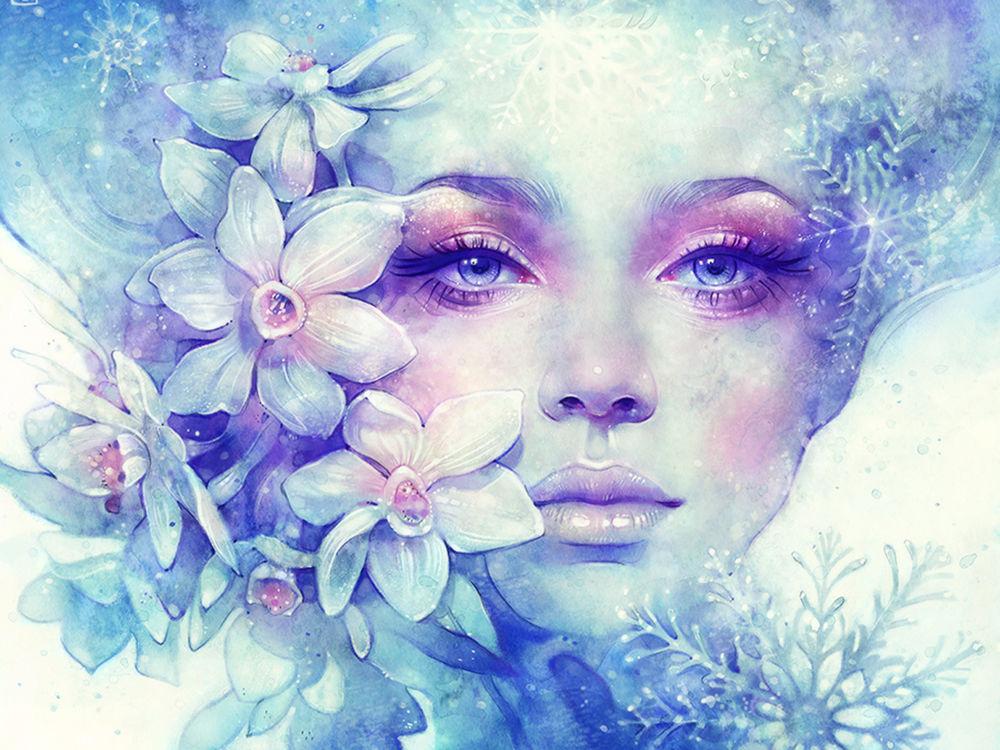 Девушка-зима - удивительные арт картинки, фото, подборка 25