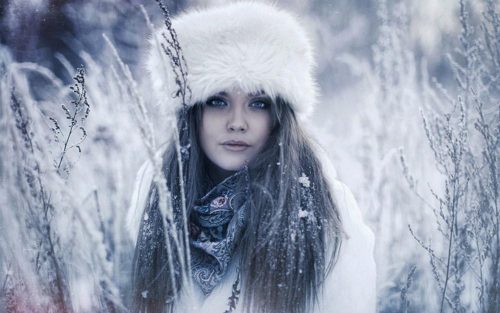 Девушка-зима - удивительные арт картинки, фото, подборка 3