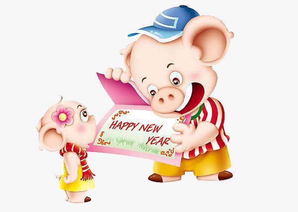 Интересные и прикольные картинки, фото свиньи на Новый год 2019 13