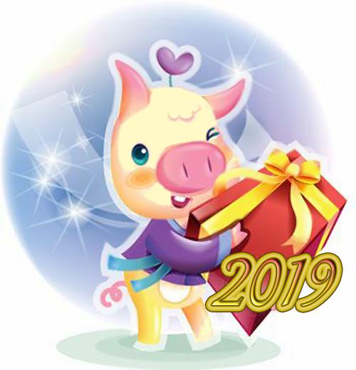 Интересные и прикольные картинки, фото свиньи на Новый год 2019 18