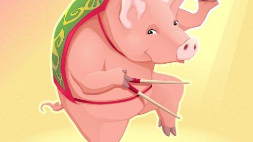 Интересные и прикольные картинки, фото свиньи на Новый год 2019 19