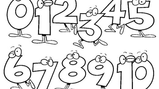 Картинки раскраски Цифры от 1 до 10 - подборка изображений 18