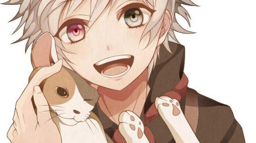 Красивые арты парней и девушек с котами, кошками - подборка 3