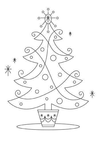 Красивые и интересные картинки новогодней елочки для детей 4