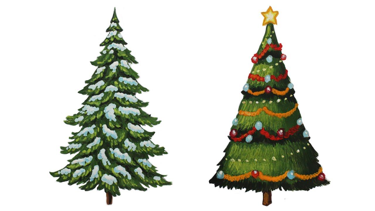 Красивые и интересные картинки новогодней елочки для детей 5