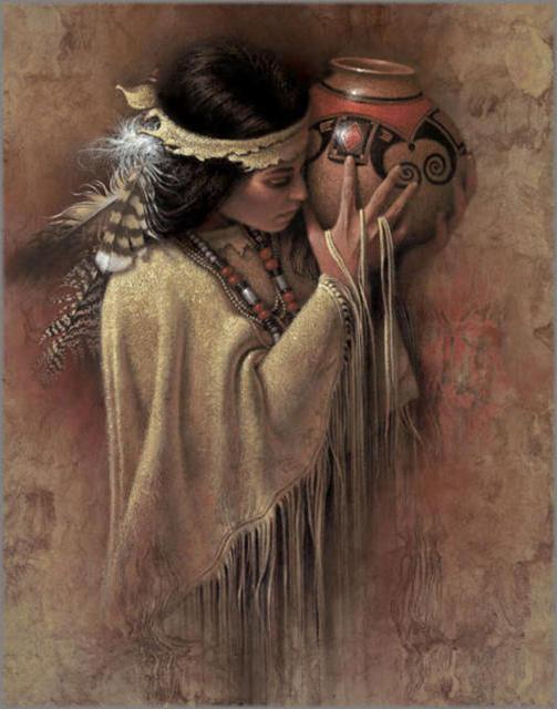 Красивые и интересные картины Девушка с кувшином - сборка 12