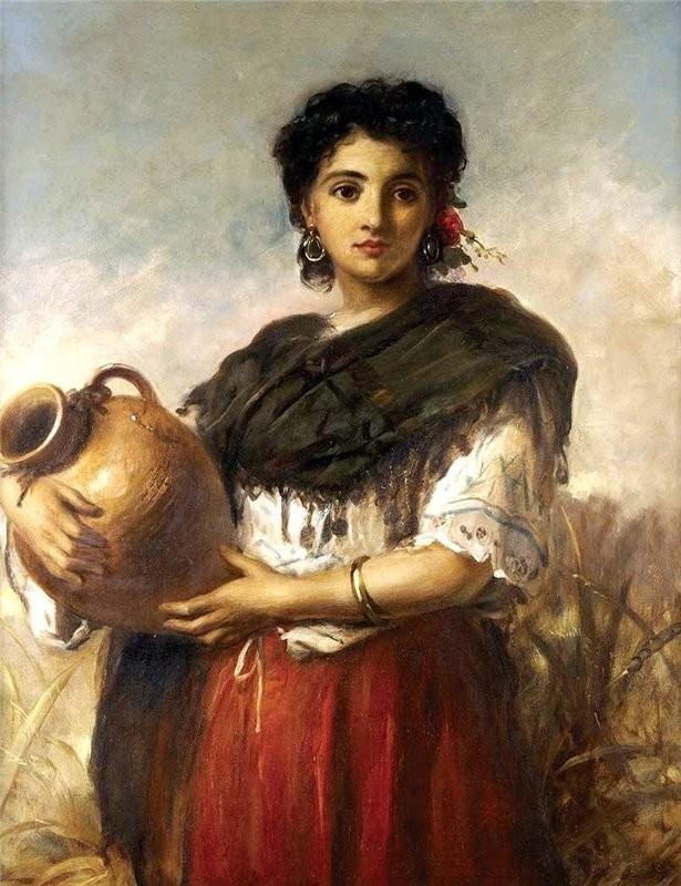 Красивые и интересные картины Девушка с кувшином - сборка 15