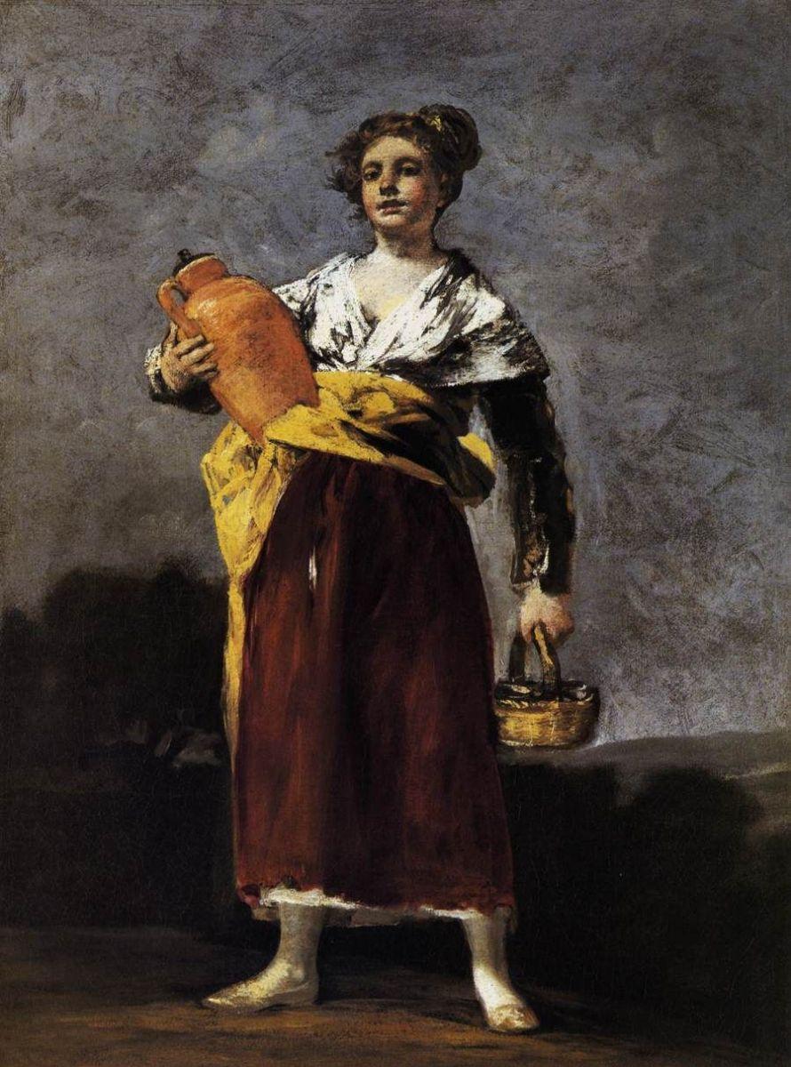 Красивые и интересные картины Девушка с кувшином - сборка 16