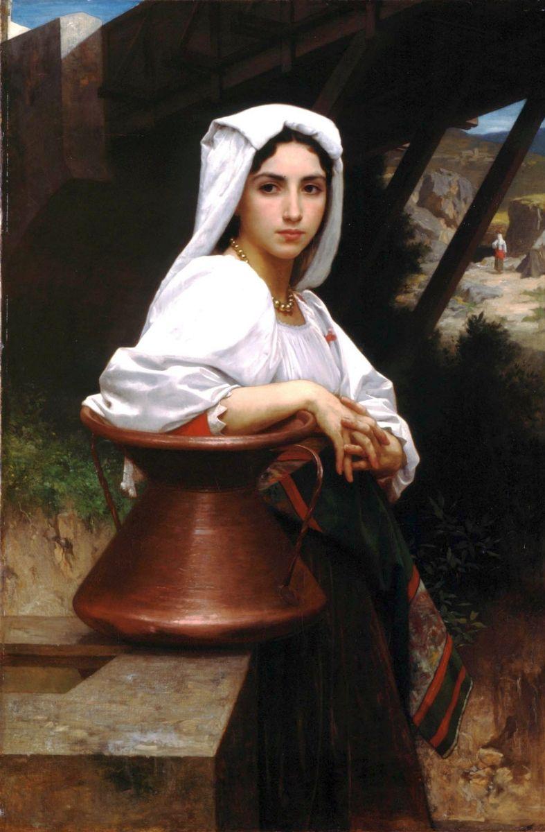 Красивые и интересные картины Девушка с кувшином - сборка 17