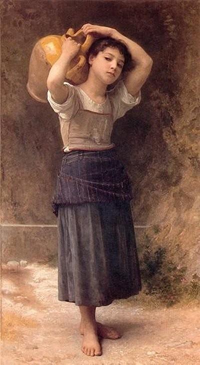 Красивые и интересные картины Девушка с кувшином - сборка 18