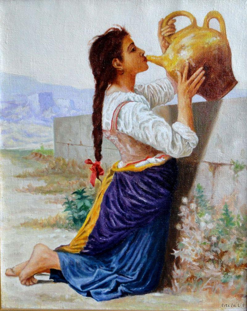 Красивые и интересные картины Девушка с кувшином - сборка 3