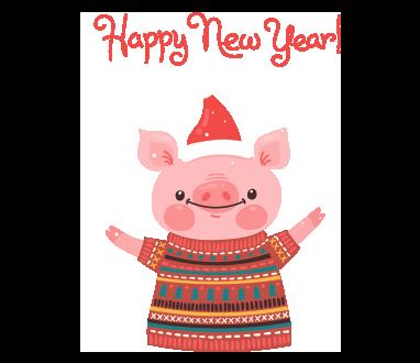 Красивые и прикольные картинки на тему Новогодняя свинья - сборка 3