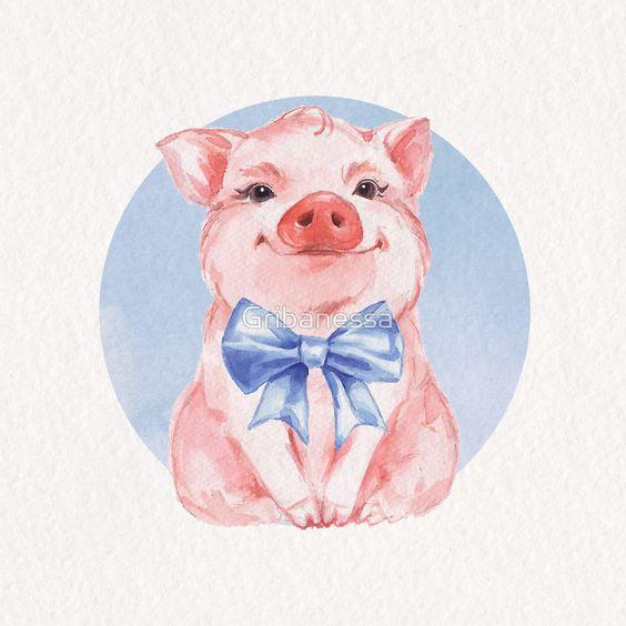 Красивые и прикольные картинки на тему Новогодняя свинья - сборка 5