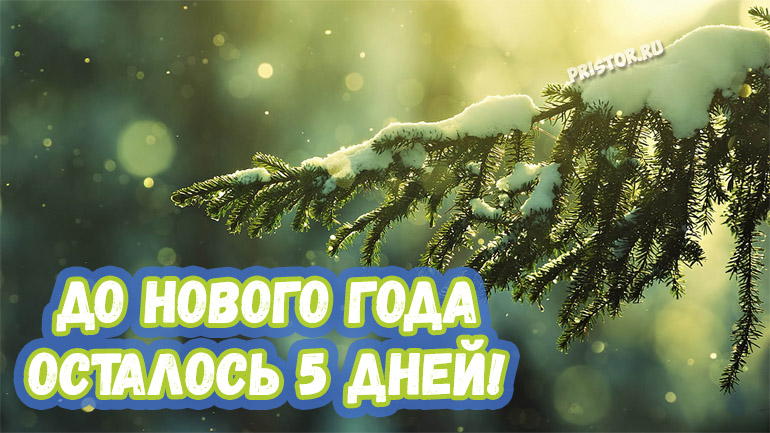Красивые картинки До нового года осталось 5 дней - подборка 6