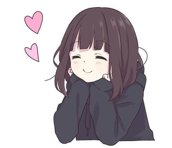 Красивые картинки девушки аниме с коричневыми волосами 14