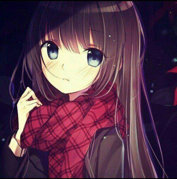 Красивые картинки девушки аниме с коричневыми волосами 9