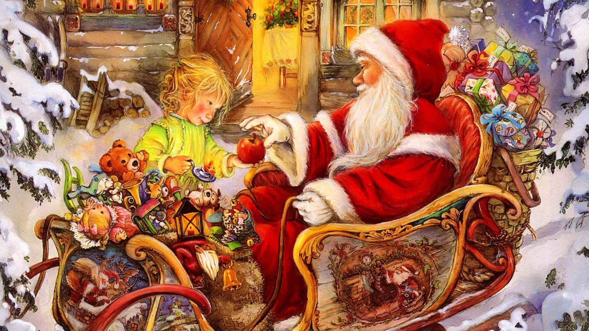 Красивые картинки и рисунки для детского сада на Новый год 10