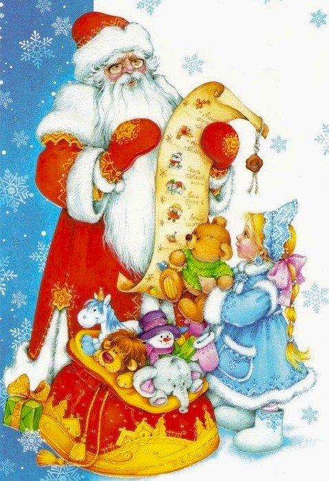 Красивые картинки и рисунки для детского сада на Новый год 3