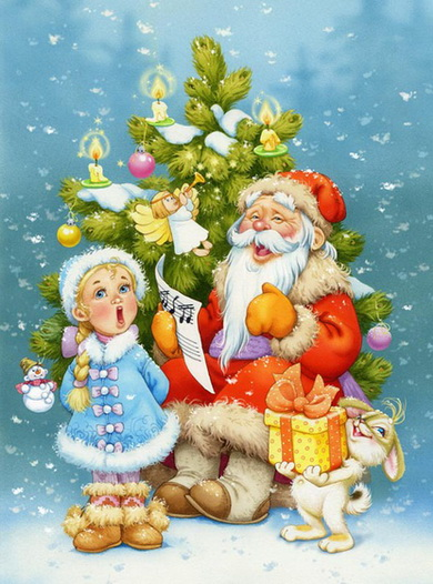 Красивые картинки и рисунки для детского сада на Новый год 5
