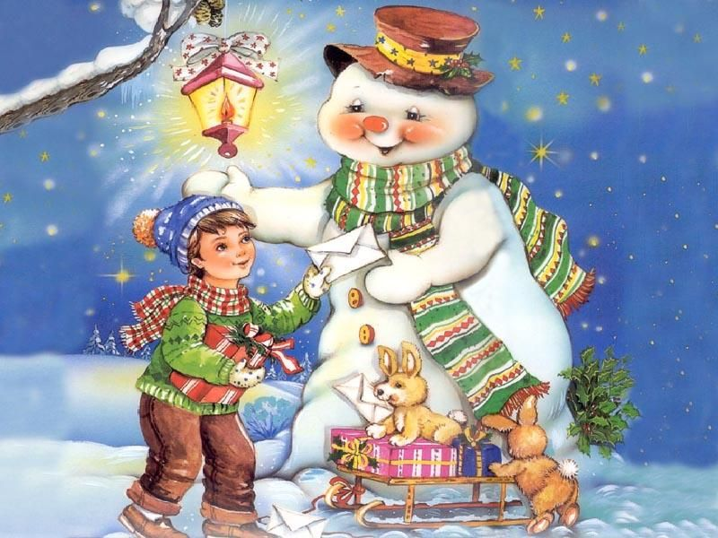 Красивые картинки и рисунки для детского сада на Новый год 7