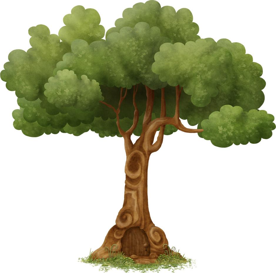 Красивые картинки с деревьями для детей и малышей - подборка 20 фото 13
