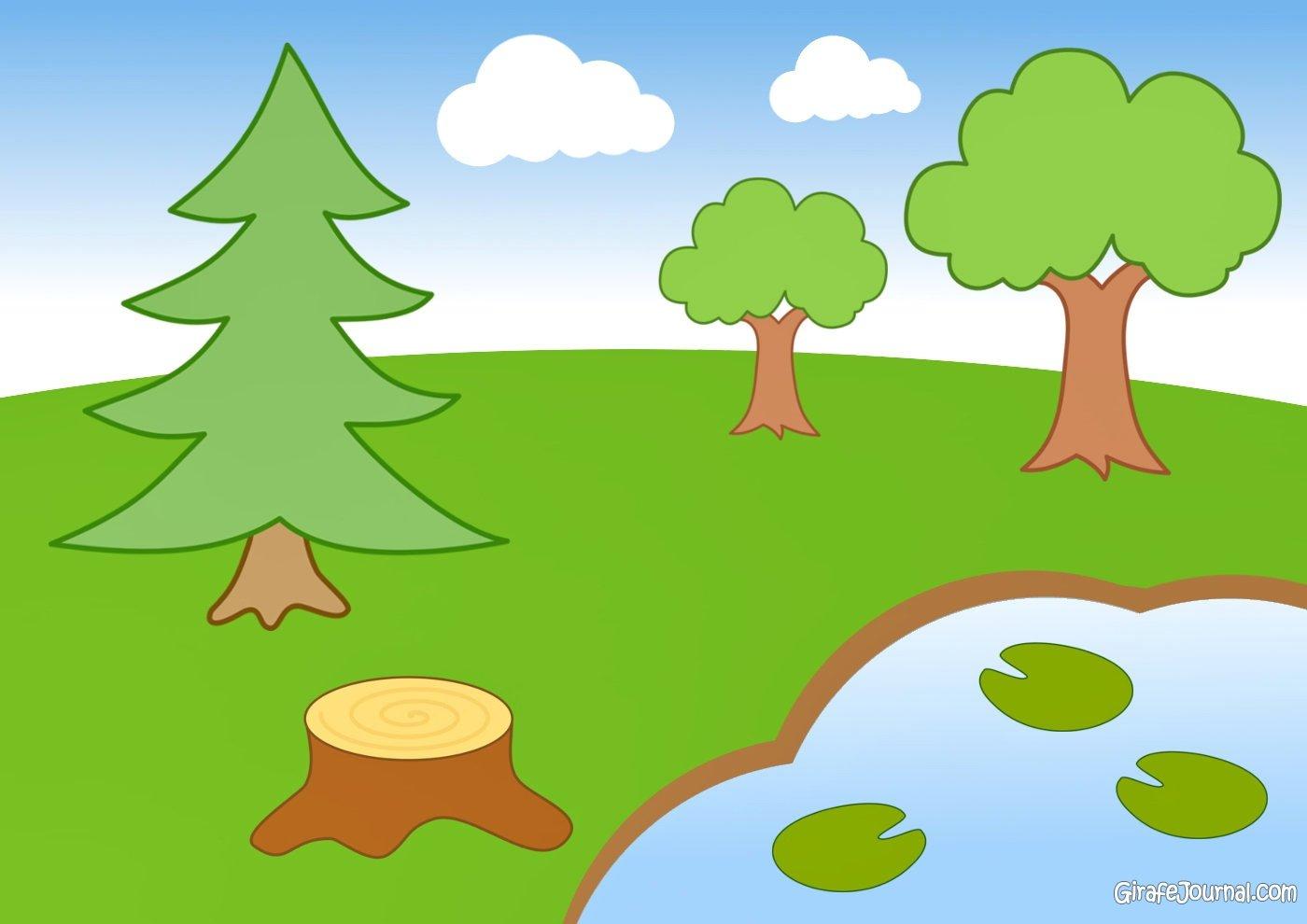 Красивые картинки с деревьями для детей и малышей - подборка 20 фото 4