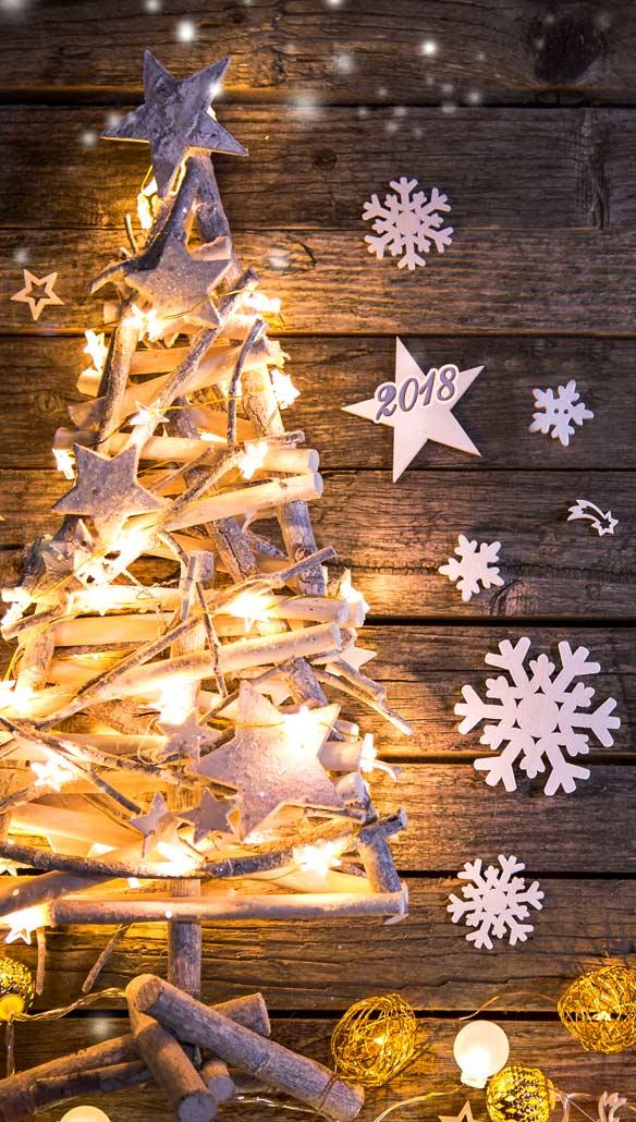 Красивые новогодние и рождественские картинки на телефон 8