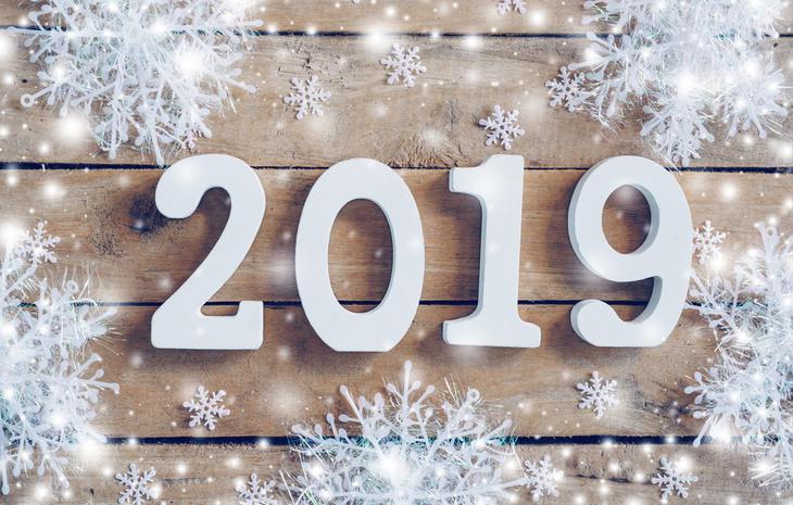 Красивые открытки поздравления с Новым годом 2019 - подборка 3